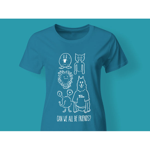 Mia Dyson - Can We All Be Friends Ladies Tee (Blue)