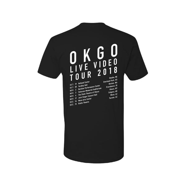 OK Go - 2018 Youth Tour Tee (Black)