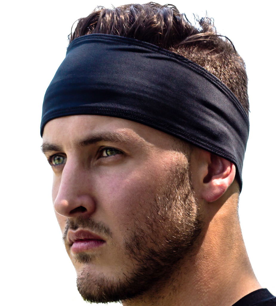 Sweat Band Headband For Women and Men - Sweat and Slip Resistant (Black)  best 62194ea2a5