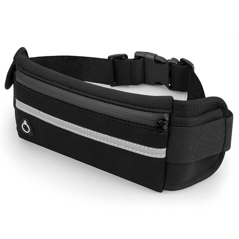 Classic Running Waist Pack - Fits All Phones (Black) Running Belts best, armbands, best armbands, armband, fitness