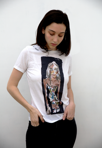 Vivid Nancy Tee (White)