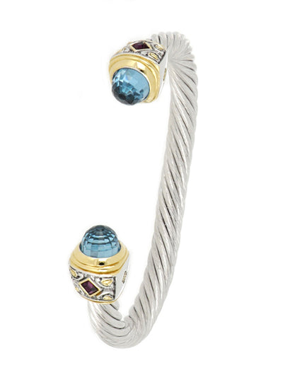 Nouveau Large Wire Cuff with Accent Stone
