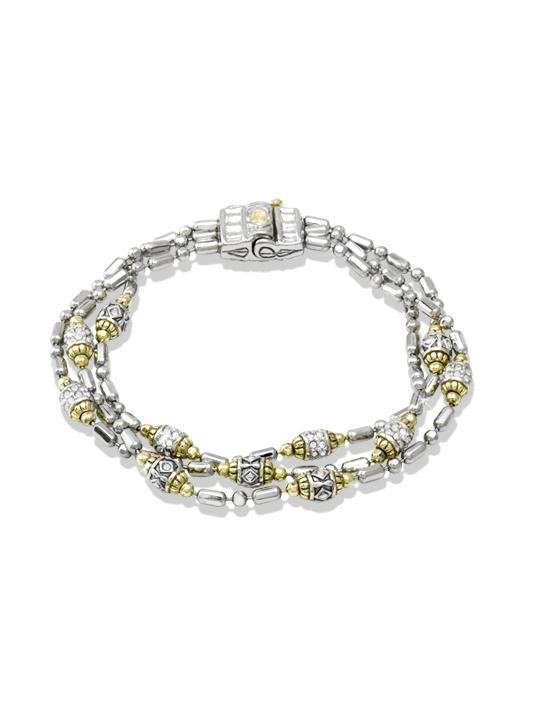Pavé Triple Strand Beaded Bracelet by John Medeiros Jewelry Collections.