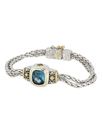 Nouveau Double Strand Oval Bracelet - John Medeiros Jewelry Collections