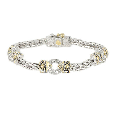 Antiqua Three Circle Pavé Bracelet