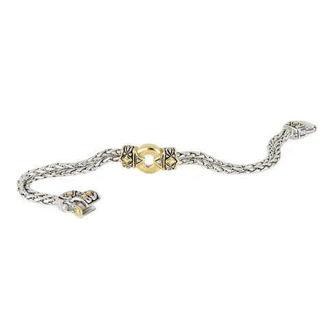 Antiqua Gold Circle Bracelet clasp