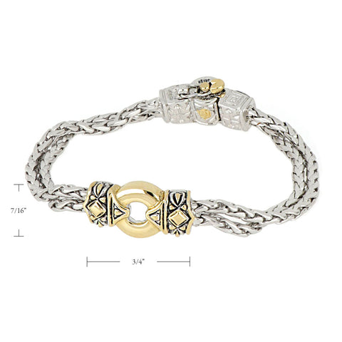 Antiqua Gold Circle Bracelet size