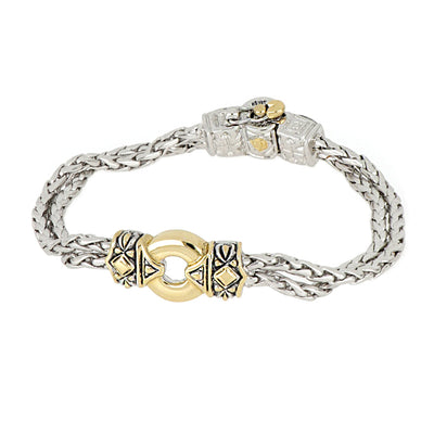 Antiqua Gold Circle Bracelet