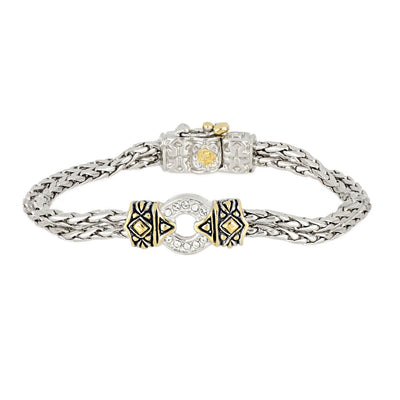 Antiqua Pavé One Circle Bracelet - John Medeiros Jewelry Collections