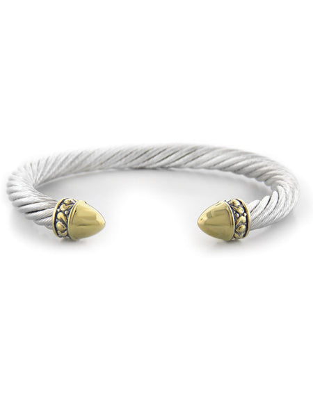 Nouveau Gold Dome Large Bullet Wire Cuff