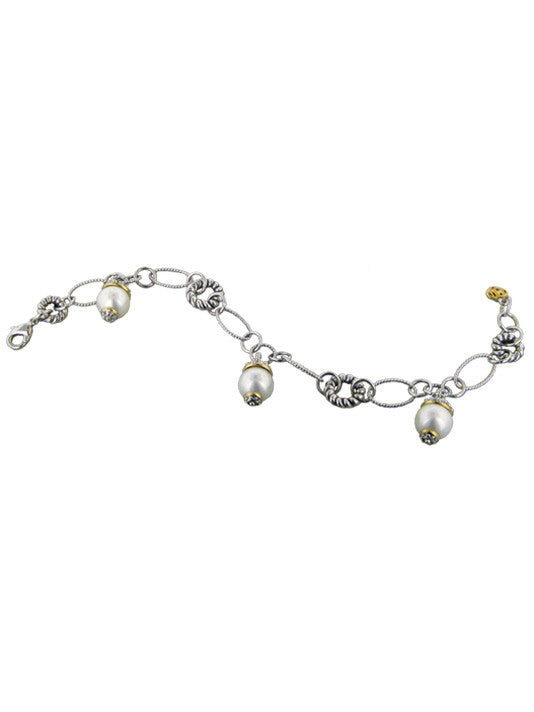 Ocean Images Collection Seashell Pearl Drop Bracelet