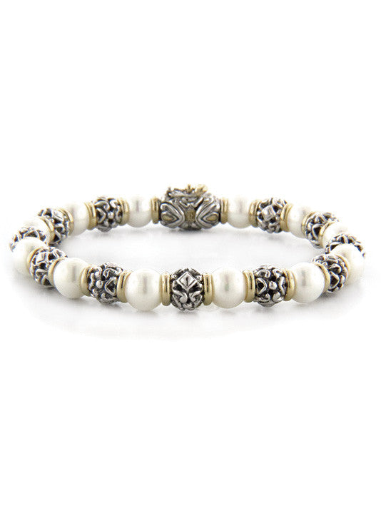 Ocean Images Collection Seashell Pearl Bracelet