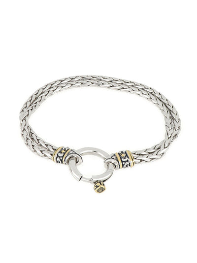 Spring Ring Double Strand Foxtail Bracelet - John Medeiros Jewelry Collections