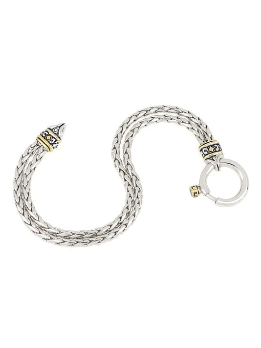 Spring Ring Double Strand Foxtail Bracelet