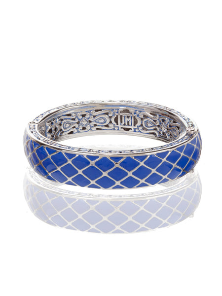 Lattice Collection Hinged Bangle Bracelet