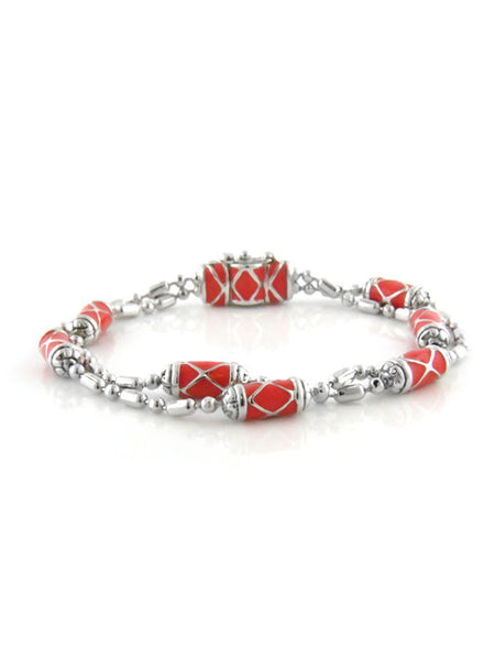 LIMITED Coral Lattice Double Strand Bracelet