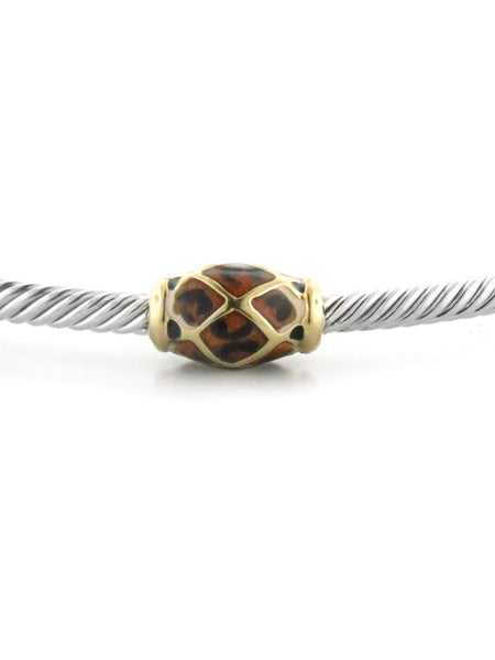 John Medeiros Celebration Leopard Bead Bangle