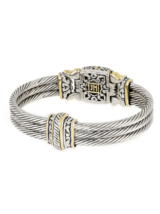 Anvil Square Pavé Cable Bracelet