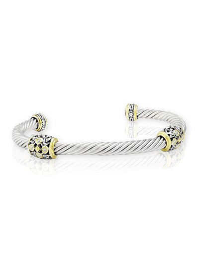 O-Link Collection Filigree Twist Wire Station Bracelet - John Medeiros Jewelry Collections