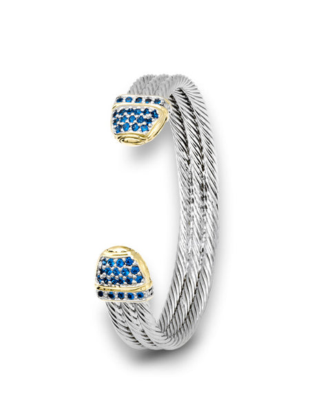 Pavé Triple Wire Cuff Bracelet by John Medeiros Jewelry Collections.