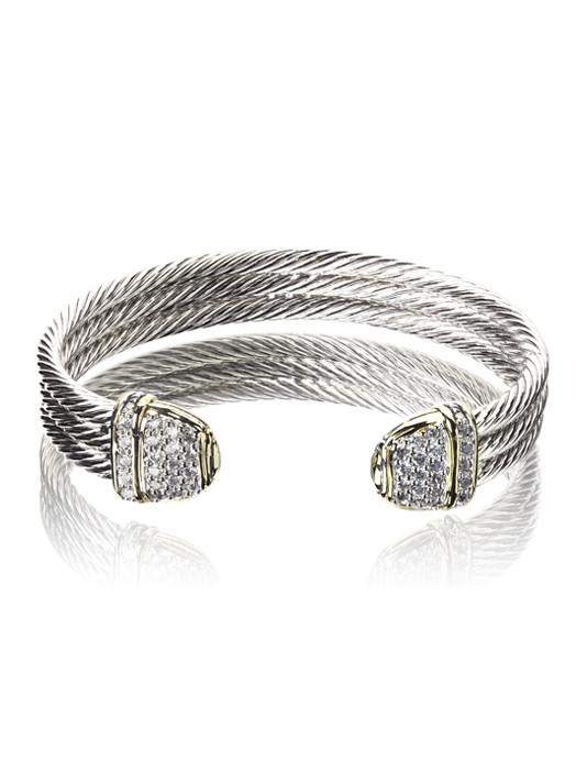 Pav̩ Triple Wire Cuff Bracelet by John Medeiros Jewelry Collections.