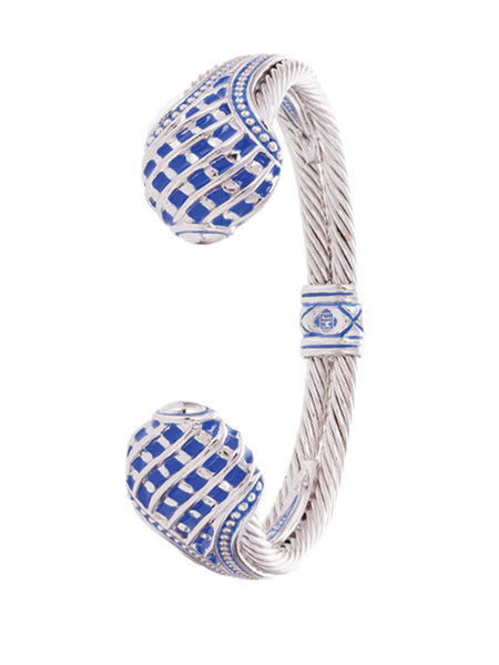 Lattice Collection - Lapis Edition - Teardrop Cuff Bracelet