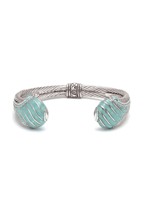 Lattice Collection Turquoise Teardrop Cuff Bracelet