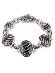 Ocean Images Black Seas Collection Small Oval Link Bracelet