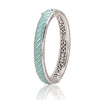 Ocean Images Turquoise Seas Hinged Bangle Bracelet
