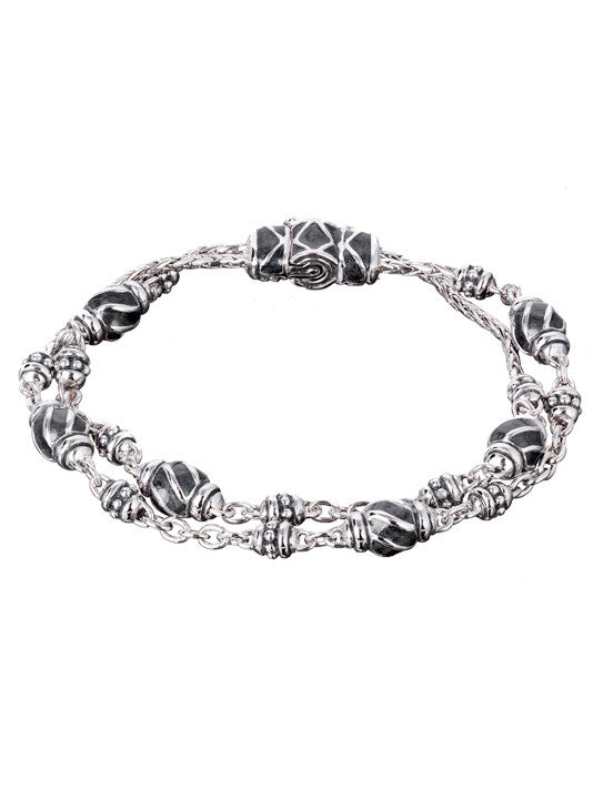 Ocean Images Black Seas Collection Double Strand Bracelet