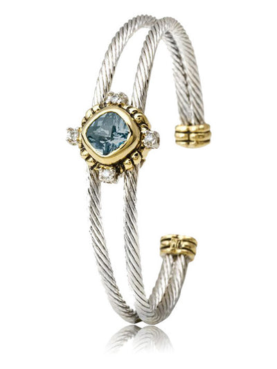 Nouveau Simplicity Square Double Wire Bracelet - John Medeiros Jewelry Collections