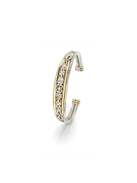 O-Link Collection Filigree Double Wire CZ Bracelet