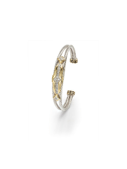 O-Link Collection Falling Stars Double Wire CZ Bracelet