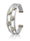 Falling Stars Triple Wire Five Star Bracelet by John Medeios Jewelry Collections.