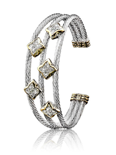 O-link Collection Falling Stars Triple Wire Five Star Bracelet - John Medeiros Jewelry Collections
