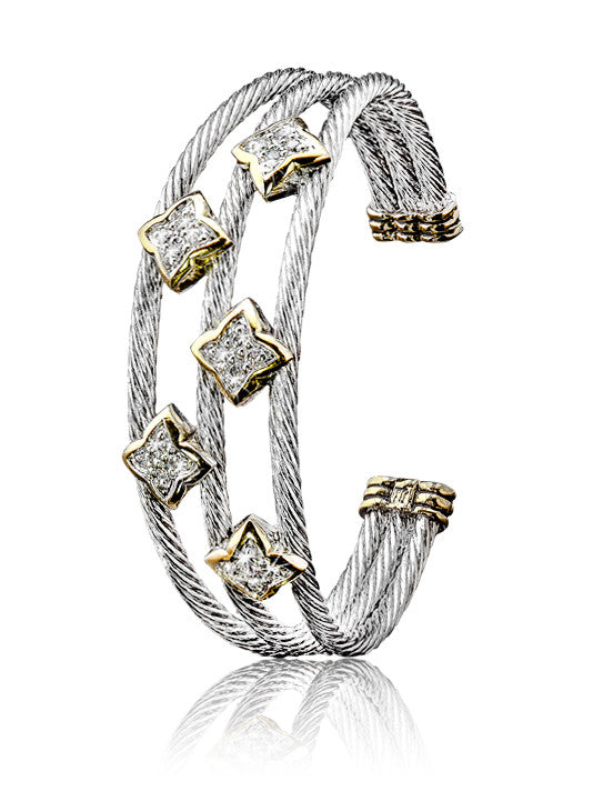O-link Collection Falling Stars Triple Wire Five Star Bracelet