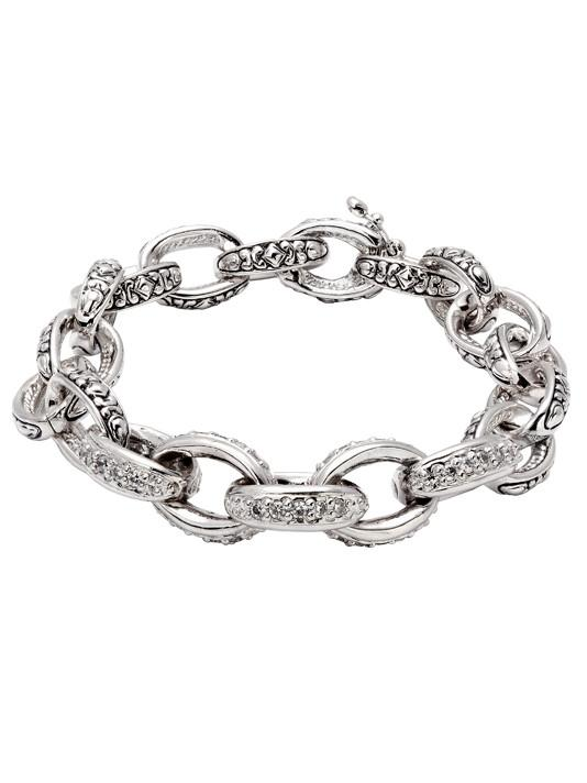Pavé Oval Link Bracelet by John Medeiros Jewelry Collections.