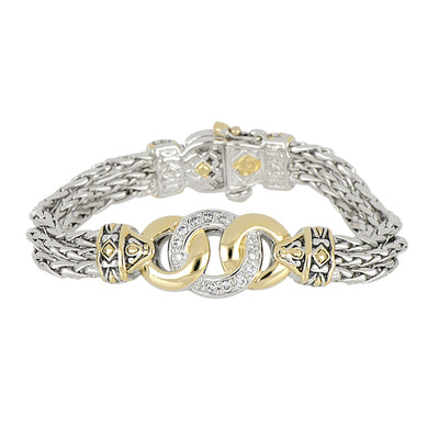 Antiqua Three Circle CZ Bracelet - John Medeiros Jewelry Collections