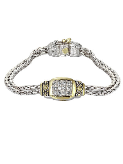 Nouveau CZ Double Strand Bracelet - John Medeiros Jewelry Collections