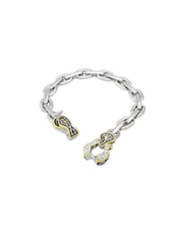 "Unlinked Timeless Horseshoe 7 3/4"" Chain Link CZ Bracelet."