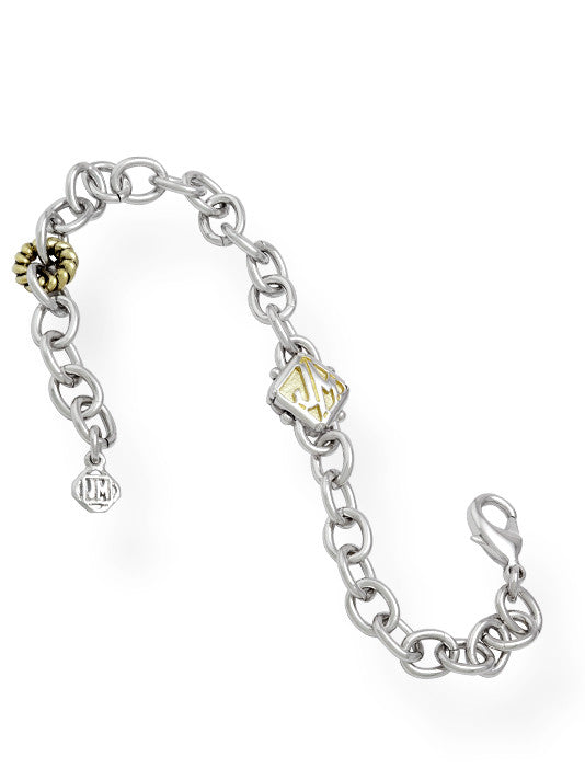 Attachable Charm Bracelet with JM Logo