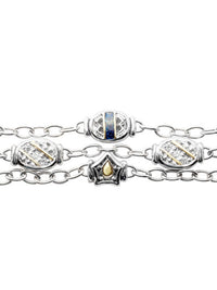 Timeless Triple Strand Bracelet in Midnight (zoom).