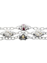 Timeless Triple Strand Bracelet in Marsala (zoom).