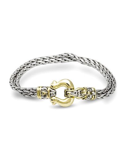Anvil Double Strand Horseshoe Bracelet - John Medeiros Jewelry Collections