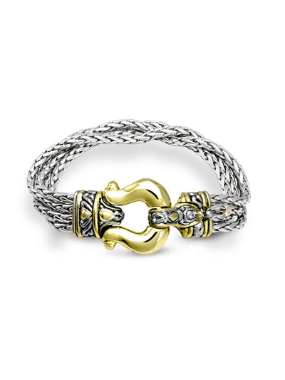 Anvil Four Strand Horseshoe Bracelet - John Medeiros Jewelry Collections