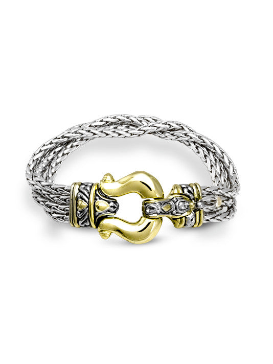 Anvil Four Strand Horseshoe Bracelet