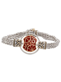 John Medeiros Carnelian Anvil Collection - Gears of Time Edition - Centerpiece Bracelet