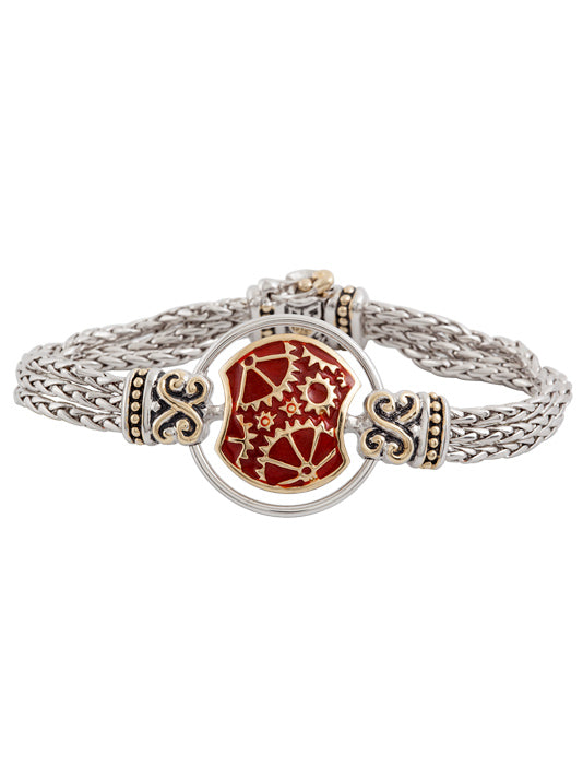 Gears of Time Carnelian Centerpiece Bracelet