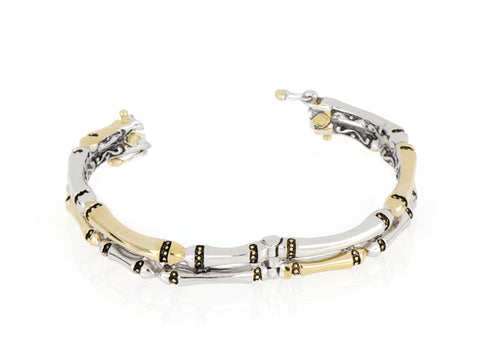 Canias Original Collection Two Row Hinged Bangle Bracelet