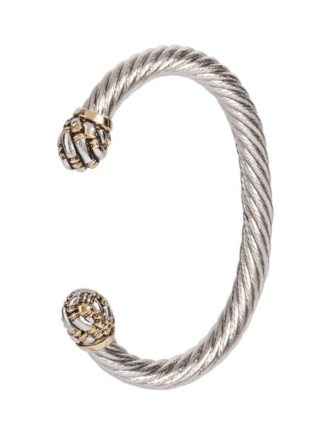 Canias Collection Large Wire Cuff Bracelet